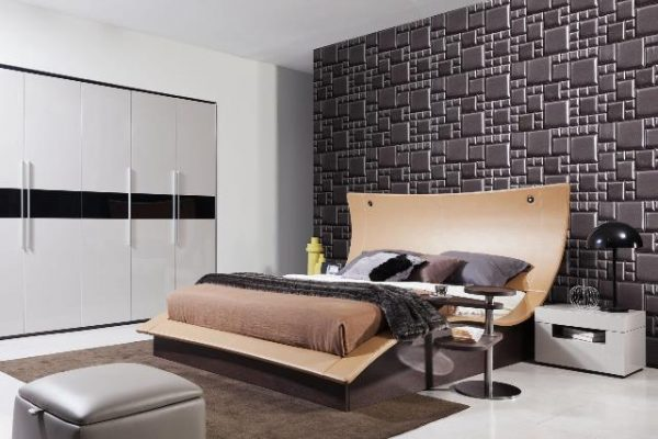 """""""The Catalina"""" Modern Bed with Lighted Headboard – SOLD OUT, NO ETA"""
