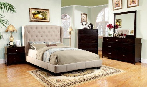"""""""The Cottage Peak"""" Ivory Fabric Bed Collection – SOLD OUT, NO ETA"""