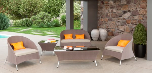 """The Dockside"" Outdoor Brown Sofa Set"