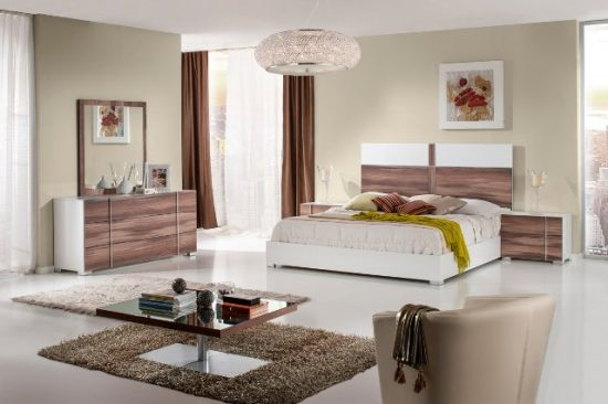 """""""The Elektra"""" White Cherry Bedroom Collection – CLOSEOUT, ONLY 2 REMAINING!"""