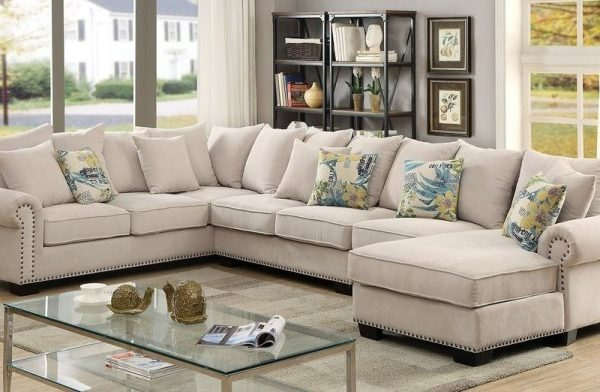 """""""The Gabrial"""" Cozy Ivory Sectional – COMING MID-FEBRUARY!"""