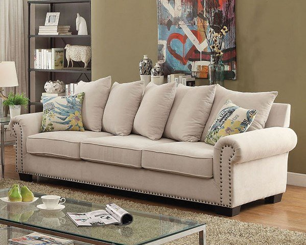 """""""The Gabrial"""" Cozy Ivory Sofa Collection – SOLD OUT, NO ETA"""
