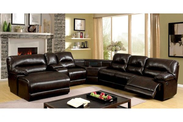 """""""The Grand"""" Transitional Reclining Brown Sectional – COMING END OF JUNE!"""