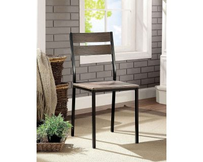 """""""The Industrial"""" Alluring Wood and Metal Dining Set"""