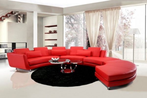 """""""The Jewel"""" Red Leather Contemporary Sectional – COMING MID-JANUARY!"""