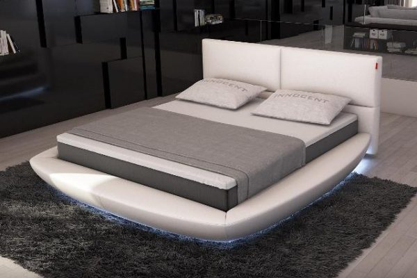 """""""The Key Islands"""" Modern Rounded Bed with LED Lights – SOLD OUT, NO ETA"""