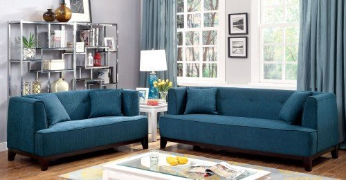"""""""The London"""" Modern Vintage Teal Sofa Collection – SOLD OUT, NO ETA"""