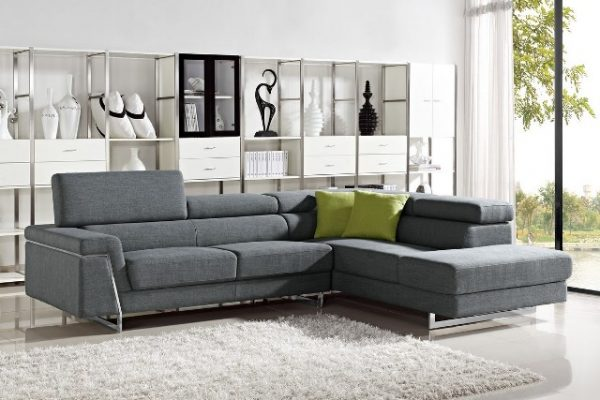 """""""The Midtown"""" Grey Fabric Sectional – SOLD OUT, NO ETA"""