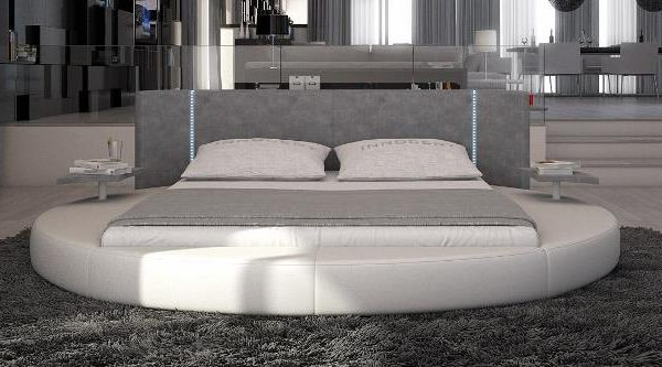 """""""The Milano"""" Modern Rounded Bed with LED Lights – SOLD OUT, NO ETA"""