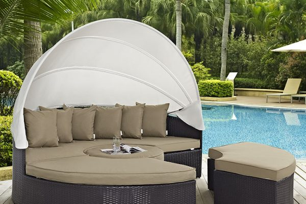 """The New Lagoon"" Canopy Outdoor Daybed Collection – 6 Colors – SOLD OUT, NO ETA"