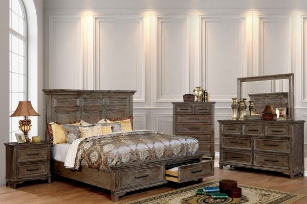 """""""The Oregon Trail"""" Transitional Rustic Oak Bedroom Collection – QUEEN BED ONLY!"""