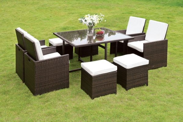 """The Peyton"" 9 PC Patio Dining Collection"