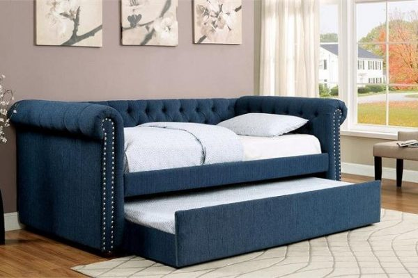"""""""The Rebecca"""" Teal Tufted TWIN Daybed w/ Trundle – COMING IN FEBRUARY!"""