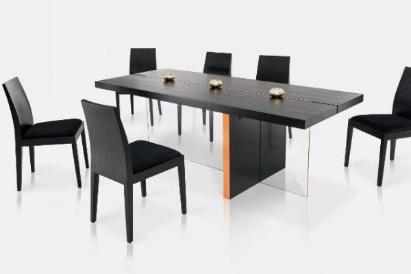 """The Satini"" Modern Black Oak Dining Set & Collection"
