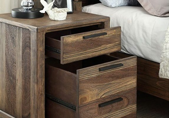 """""""The Sierra"""" Tufted Wood Grain Bedroom Collection w/Drawers – COMING IN FEBRUARY!"""
