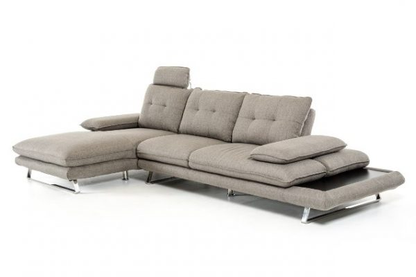 """""""The Westwood"""" Modern Grey Fabric Sectional – LOW INVENTORY!"""